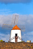 Beautiful windmill Stock Photo