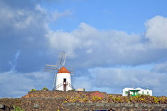 Beautiful windmill in lanzarote Royalty Free Stock Images
