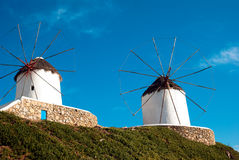 Beautiful windmill on Mykonos island Stock Image
