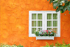 Beautiful window for background. Beautiful window orange color for background Stock Photography