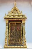 Beautiful window in bangkok. Beautifully decorated window in wat arun temple in bangkok royalty free stock photo