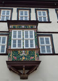 A Beautiful Window Box in Muehlhausen, Germany. A lovely ornamental window box in Muehlhausen, Germany Royalty Free Stock Photos