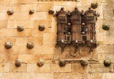 Beautiful Window of Casa de las Conchas Stock Photo