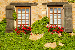 Beautiful window in France Royalty Free Stock Photography