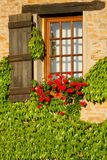 Beautiful window in  France . Royalty Free Stock Photos