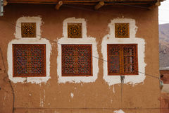 Beautiful window of a house in Abyaneh,Iran. Royalty Free Stock Photography