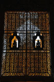 Beautiful window of Kambawzathardi Golden Palace, Bago, myanmar. Royalty Free Stock Image