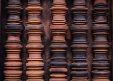 Beautiful Window Shape in Banteay Srei Royalty Free Stock Image