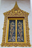 Thai style window of temple Royalty Free Stock Photos