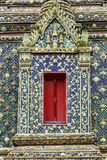 Beautiful window in Thai public temple. Royalty Free Stock Photos