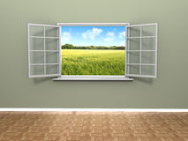 Beautiful window view stock illustration