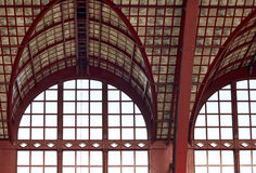 Beautiful windows of Antwerp central station Stock Images