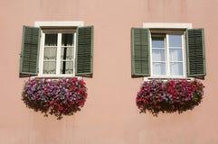 Beautiful windows Chiusa Royalty Free Stock Image