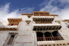 Beautiful windows of Leh Palace Royalty Free Stock Images