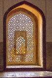 Beautiful windows with ornaments in islamic style inside humayun Royalty Free Stock Photography