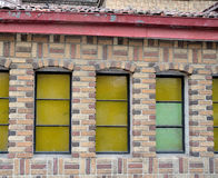 Beautiful windows. Scandinavian-style Norwegian-style villa in shanghai Stock Image