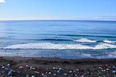 Beautiful windy beach Playa El Socorro. Los Realejos, Puerto de la Cruz, Tenerife, Spain Royalty Free Stock Photo