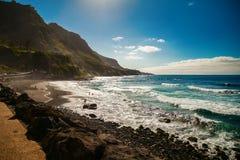 Beautiful windy beach Playa El Socorro Stock Photo