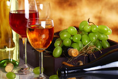 Beautiful wine composition Royalty Free Stock Photos