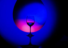 Beautiful wineglass Stock Photography