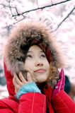 Beautiful winter. Beautiful in winter, beautiful girls Stock Image