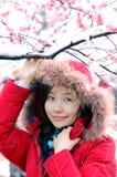Beautiful winter. Beautiful in winter, beautiful girls Royalty Free Stock Photos