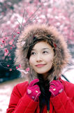 Beautiful winter. Beautiful in winter, beautiful girls Royalty Free Stock Images