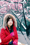 Beautiful winter. Beautiful in winter, beautiful girls Stock Photos