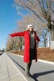 Beautiful winter. Beautiful in winter, beautiful girls Stock Photography