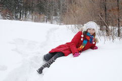 Beautiful winter. Beautiful in winter, beautiful girls Stock Images