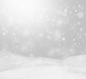 Beautiful winter background. Landscape with bokeh. Royalty Free Stock Image