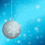 Beautiful winter background with silver globe Royalty Free Stock Image