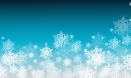 Winter background with snow flakes Royalty Free Stock Photos