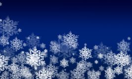 Winter background with snow flakes Stock Photo