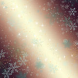 Beautiful winter background with snowflakes Stock Photo