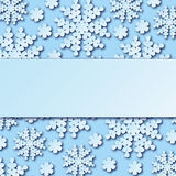 Beautiful winter background with snowflakes and place for your text. Royalty Free Stock Photography