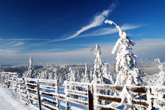 Beautiful winter day in mountains Royalty Free Stock Image