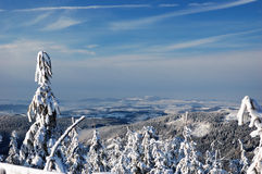 Beautiful winter day in mountains Stock Images