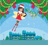 Beautiful Winter fairy. Vector Illustration Royalty Free Stock Image