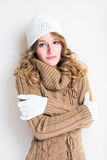 Beautiful winter fashion girl. Stock Photo