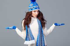 Beautiful winter fashion model. Royalty Free Stock Images