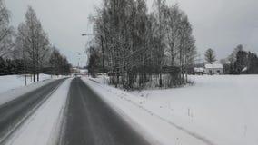Beautiful Winter In Finland stock footage