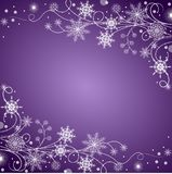 Beautiful winter frame made of snowflakes Royalty Free Stock Photos