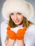 Beautiful winter girl Royalty Free Stock Photos