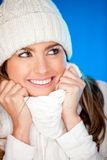 Beautiful winter girl Royalty Free Stock Image