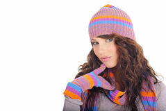 Beautiful winter girl Stock Photography