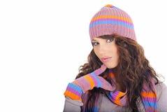 Beautiful winter girl Stock Photography