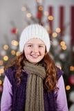 Beautiful winter girl at Christmas Stock Image