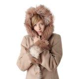 Beautiful winter girl portrait Stock Photos