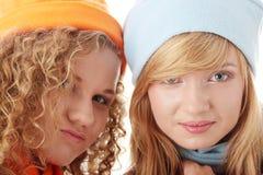 Beautiful Winter Girls Stock Image